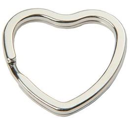 Anneau Cœur en métal argenté
