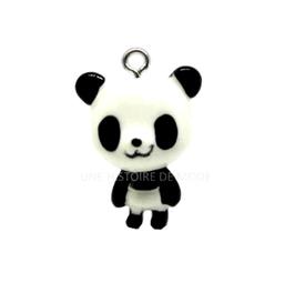 Breloque panda 3D en résine  - 24 x 17 mm
