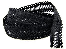 Ruban élastique résille noir - 15 mm
