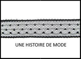 1 mètre de ruban dentelle noire  - D103