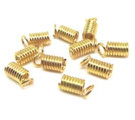 10 embouts à écraser en métal doré - 8 x 4 mm - 0016