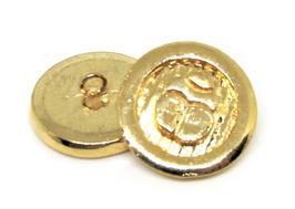 Bouton en métal doré scarabée  - 22 mm -  B029T