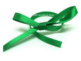 1 mètre de ruban satin vert  - 6 mm -