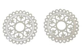 2 estampes en acier inoxydable argenté - 32 mm - E14