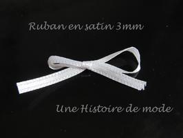 1 mètre de ruban satin blanc 3 mm