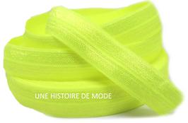 Ruban élastique jaune fluo -  15 mm ( au mètre )
