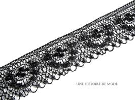 1 mètre de dentelle noire - 40 mm de largeur - D77