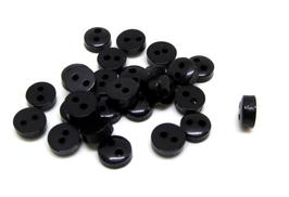 50 mini boutons noirs acrylique  6 mm - BT062