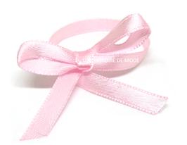 1 mètre de ruban en satin rose clair - 6 mm -