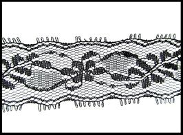 Dentelle noire de 33 mm de largeur - D76