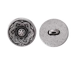 2 Boutons en métal argenté  - 15 mm - B010T
