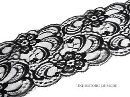 1 mètre de large dentelle noire - 85 mm  - D26