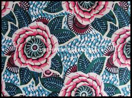 Tissu à fleurs de DAHLIA en coton  50 x 45 cm  - coupon T106