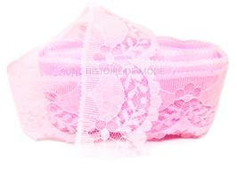1 mètre de dentelle rose clair de 40 mm de largeur - D85
