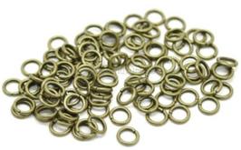100 anneaux ouverts 4 mm en métal bronze