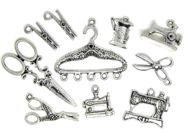 10 Breloques couture en métal argenté vieilli -  RZZ41