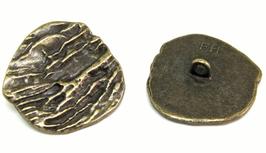 2 Gros boutons en métal bronze 28 x 26 mm - BT079
