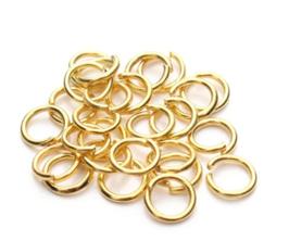 100 anneaux 5 mm en métal doré