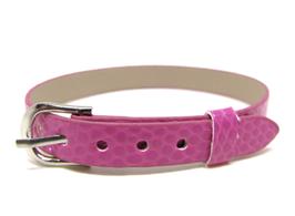 Bracelet en simili cuir  rose fuchsia - 22 cm - BB08