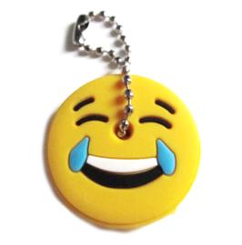 "Cache-clé émoticône "" MDR ""  en silicone -  33 mm"