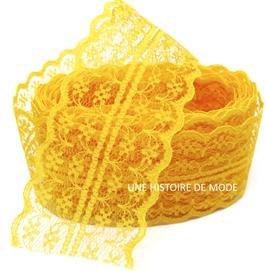 Dentelle jaune safran séparable de 45 mm de largeur - D16
