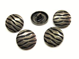 5 boutons en métal couleur bronze - 15 mm - B003D