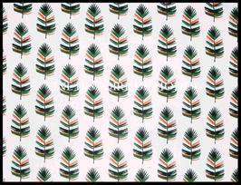 Tissu feuilles de palmier en coton -  50 x 45 cm - T81