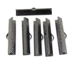 6 embouts à griffes en métal Gunmetal - 35 x 8 mm -  réf 0010