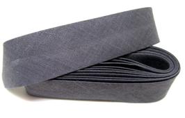 1 mètre de biais gris 20 mm replié