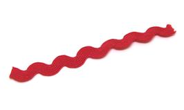 1 mètre de ruban croquet rouge - Serpentine 8mm