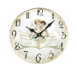 Cabochon horloge en verre  25 mm - CCW72