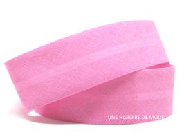 1 mètre de biais rose 20 mm replié