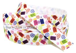 Ruban élastique crayons de couleur - 15 mm