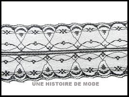 1 mètre de dentelle noire - 55 mm de largeur - D130