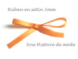 1 mètre de ruban en satin orange 3 mm