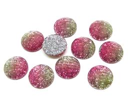 10 cabochons en résine glitter  - CCW43