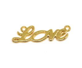 Connecteur Love en métal doré - 33 x 10 mm - TR051