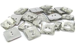 10 Boutons carrés strass acrylique couleur crystal 12 mm - BT022