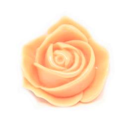 Cabochon fleur rose saumon en résine  33 x 30 mm - C1