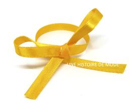 1 mètre de ruban en satin orange clair - 6 mm