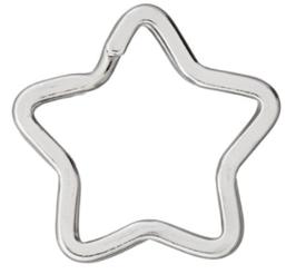 Anneau étoile en métal argenté 35 x 34 mm