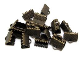 10 fermoirs griffes en métal bronze 10 x 8 mm - 0013