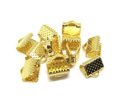 10 pinces griffes en métal doré 8 x 8 mm