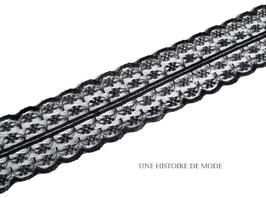 Dentelle noire séparable de 45 mm de largeur -  D9
