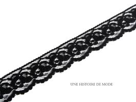 1 mètre de dentelle noire  - MADE IN FRANCE - 25 mm - D18