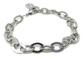 Bracelet en métal argenté avec fermoir - B003