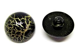 1 Bouton dôme synthétique effet craquelé  - 21 mm - BT014