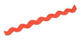 1 mètre de ruban croquet orange  - Serpentine 8mm