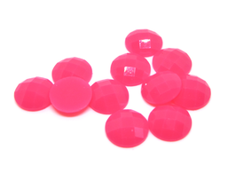 10 cabochons rond rose ( fluo ) synthétique 10 mm - CCW36