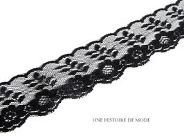 1 mètre de dentelle noire - 36 mm de largeur - D128